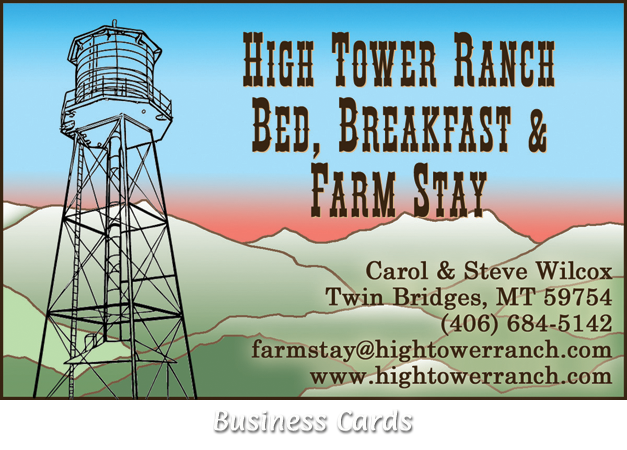 High Tower Ranch Business Card